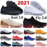 Новейшие вязаные 2 0 кроссовки летают 1 0 Трехместный черный CNY мужские кроссовки подушки кроссовки женщин дышащий пробег Обувь размер 3645 Mikii