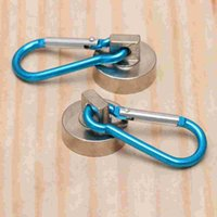 Haken Schienen 2 Stück Magnetic 22 kg Heavy Duty Magnet mit schwenkbarem Karabiner-Schnapphaken für Innen- / Außenaufhängungs-Tasche Küche Gar
