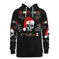 Nightmare Before Christmas Printed Pattern Hoodie Visual Impact Party Top Punk Gothic Round Neck High Quality American Sweater Hoodie