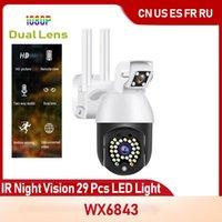 Caméscopes sans fil WiFi IP Smart Security Caméra CCTV 29 PCS LED Night Night Night Network IR Cam Dual Lens Surveillance pour intérieur ou extérieur