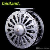 7/8 100mm / 3.94in 3BB 금속 플라이 낚시 릴 정밀 가공 된 플라이 릴 Bar-Stock 알루미늄 W / Oning Click Ice Fishing Wheel