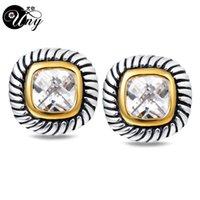 Uny Antique Women Jewelry S 브랜드 프랑스어 클립 CZ 케이블 와이어 빈티지 디자이너 영감 David Earrings 선물
