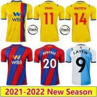 21 22 ZAHA MATETA BenTEKE Futbol Formaları 2021 2022 Ev Uzaktan 3rd Milivojevic Eze J. Ayew Kouyate Schlupp Olise Edouard Hughes Futbol Gömlek Mens Üniforma Çocuk Seti