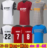 21 22 Valencia CF Futebol Jerseys C.Soler 2021 2022 Camiseta Cutrone Gameiro Oliva Gaya Manu Vallejo M.gomez G.Paulista Futebol Camisa
