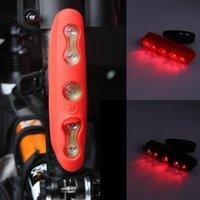 자전거 조명 튼튼한 공원 스포츠 사이클링 USB 미등 경고 라이트 스트리트 파크 산 조립 5LED 3 색 LED