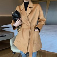 Water Ripple Double Face Cashmere Coat Women' s Short 20...