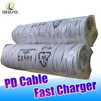 USB-C TO TIPO C Cables de teléfono rápidos USB 1M 3 pies Cable de carga de alta velocidad Izeso