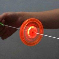 Dekompression Spielzeug Flash Pull Line LED Schwungrad Feuerrad Glug Pfeife Kreative Klassische Spielzeug für Kinder Geschenk