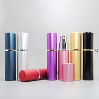 10ml Mini Spray Perfume Bottle Travel Empty Cosmetic Container of toner, Pure Dew, Atomizer Aluminum+ glass Refillable Bottles HHF6980