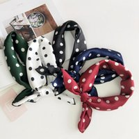 Scarves LJCUIYAO Stripe Square Scarf Hair Tie Band For Business Party Women Elegant Small Vintage Skinny Head Neck Silk Satin