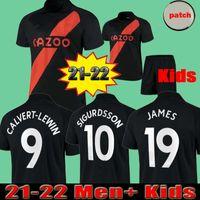 James Rodriguez 2021 2022 Men + Kids Soccer Jerseys Sigurdsson Kean Delph Gbamin André Gomes الصفحة الرئيسية ثالثا 21 22 Away Black Richarlison كرة القدم قمصان