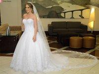 Elegant 2021 White Simple A Line Wedding Gowns With Veil Plus Size Bridal Dresses Sweetheart Neck Sleeveless Satin Vestidos De Novia