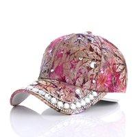 Women Baseball Cap Diamond Painting Embroidery Flower Cotton Snapback Hats Jeans Woman Female Caps Summer Sun Hat