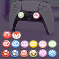 Analoge Stick Luminous Cover Weiche Silikon Joystick Caps Daumengriffe für NS Switch Pro / PS5 / PS4 / Xbox-One Controller