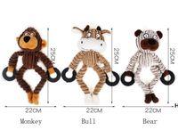 Pet peluş can sıkıntısı diş çıkarma dayanımı rahatlar vokal köpek oyuncaklar diş temizleme ve koku emici hayvan modelleme oyuncak HWD6496