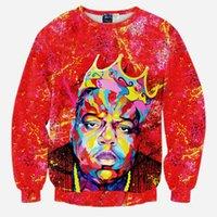 3D 스웨터 풀오버 도매 - 쭈글 룩 한 남자 / 여성 그림 까마귀 biggie crewneck b.i.g 인쇄 작은 석유 캐주얼 악명 높은 AIIQT
