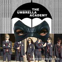 Şemsiye Koleji Lateks Göz Maskesi Yeni Balo Parti Sahne Süper Kahraman Siyah Göz Maskesi