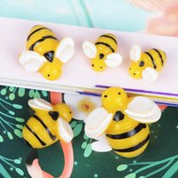 Andere Kawaii Imitation Animal Bee Shape Resin Cabochons Ornament Accessoires 10 stks 13mm 19mm 25mm Plaatsback Cameo Beads Garment DIY