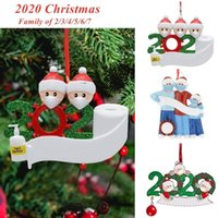 Quarantine Christmas Decorations Family of 2 3 4 5 6 7 Birthdays Party Gift Ornament Pandemic with Face Masks Hand Sanitizer RNWE