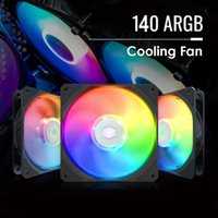 Fans & Coolings 140mm ARGB LED PC Case Cooling Fan Addressable RGB Lighting Chassis For Desktop Computer Accessories
