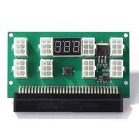 Mining 750W 서버 PSU 전원 공급 장치 브레이크 아웃 보드 어댑터 LED 디스플레이 8 포트 DPS-1200FB 용 PCI-E 6 핀 DPS-750RB 컴퓨터 케이블 CA