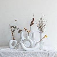 Nordic ins vaso cerâmico casa ornamentos branco vegetariano criativo cerâmico vasos vasos decorações domésticas artesanato presentes 2076 v2