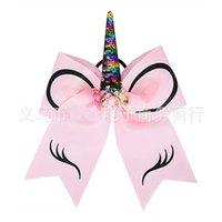 유니콘 헤어핀 나비 어린이 인쇄 경적 머리띠 소녀 패션 귀여운 코 링 헤어 링 액세서리 크리스마스 3 8GH K2