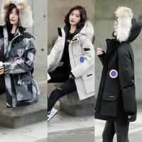 Mujer chaqueta de invierno damas reales lobo piel collar de piel pato abrigos dentro del abrigo cálido femme slim fit búsqueda Outwear parkas de alta calidad a prueba de viento