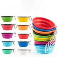 350-1000ml Large Collapsible Dog Pet Folding Silicone Bowls Outdoor Travel Portable Puppy Food Container Feeder Dish Bowl