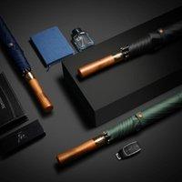 Umbrellas Increase Reinforcement Umbrella Long Straight Male Business Wooden Handle Golf 23