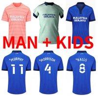 Top Quality 2021 2022 Cardiff Soccer Jerseys City Moore 21 22 Camisetas de Fútbol Morrison Ralls Murphy Hoilett Leandro Bacuna Marlon Pack Football Shirts Homme Enfants