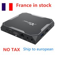Ship from france 10pcs lot Android 9.0 TV BOX X96 MAX Plus Amlogice S905X3 4GB 32GB 8K 1000M Medie Player dual wifi