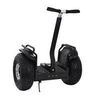 2 ruedas hoverboard kilometraje monopatín eléctrico auto equilibrio scooter con pasamano altavoz Bluetooth 72V batería 19 pulgadas 30km