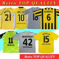 Resro Soccer Jerseys 01 Rosicky Bobic Dortmund 99 00 02 03 Classic Lewandowski Koller 96 97 Borussia 94 95 12 13 Reus Football Shirts
