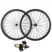 Bicicleta Rodas Fibra de Carbono Novatec A271SB F372SB Hub Bicicleta Wheelset 23/25 Largura 38 50 60 88mm Profundidade Tubular Road