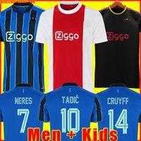 أياكس لكرة القدم جيرسي أمستردام كودوس أنتوني أعمى بروميس تاديك نيريس كرويف رجال + أطفال قميص كرة القدم الزي الثالث 50