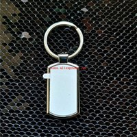 Hot Style Sublimation Blank Metal Key Ring Chain Hot Transfer Printing Keychains Blank Consumables Material 10pieces lot H0915