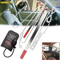 Universal Car Door Emergency Opening Key Professional Hand Tool Sets Lost Lock Out Unlock Open Tools Kit Air Pump Auto Styling Parts Vehicle 9pcs Set