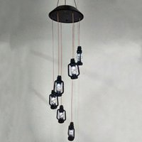 Lámparas solares LED Bombilla Viento Chime Garden Cambiando Color Seis Linterna Luz Al Aire Libre Al Aire Prueba Impermeable Yard Decorativo Energía Ahorro de Energía Noche