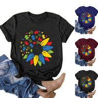 톱 Femme 2021 여성 캐주얼 편지 인쇄 반팔 O 넥 루스 티셔츠 티셔츠 탑스 Camisetas de Mujer 53 # G 여성