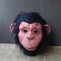Party Masks Realistic Gorilla Mask Latex Monkey Hood Funny Animal Helmet Love Live Cosplay Halloween Horror Costumes High Quality Toy
