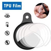 Soft TPU Clear Protective Screen Films Protector Protector Protector Película para Airtags Fitbit Luxe Surge Alta Blaze Inspire HR iónico Versa 2 Carga 3 Versa2 Carga3