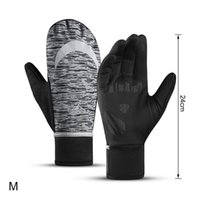 Ski Gloves Golovejoy 1 Pair Winter Mittens Sports Waterproof Reflective Cycling Unisex Full Finger Thermal Fleece Golves