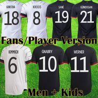 Deutschland 2021 Fussball Jersey Home Kits Hummels Kroos Draxler REUS Müller Gotze 2020 European Cup Football Hemden Uniformen Männer + Kinder Kit