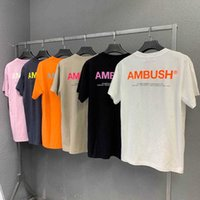 Hip Hop Ambush T-shirt Männer Frauen 1: 1 Hochwertige Casual Casual Cotton Orange Reflektierende High Street Ambush T-Shirt Top Tees X0712
