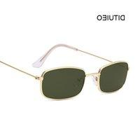 Retro Rechteck Sonnenbrille Männer Luxus Marke Designer Metallrahmen Kreis Sonnenbrille Männliche Modeschönnungen Oculos Gläser Großhandel