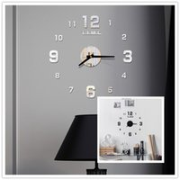 Akrilik Duvar Saati DIY Ayna Duvar Saati Sanat Akrilik 3D Ayna Sticker Ev Ofis Dekor Benzersiz Hediye RRD7045