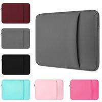 """Yicana Laptop Kol 11 """"12 13 14 15 15.6 inç Dizüstü Kılıf Macbook Hava Pro Retina Tablet Pocket için Yumuşak Çanta 210325"""