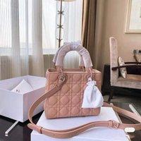 Classic must-have quattro signore borse eleganti moda moda a una spalla diamante lattice borsa smerigliata in pelle smerigliata multicolore