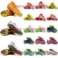 Mens High Tops Soccer Shoes Superfly 8 Elite FG Cleats Mercurial Vapores 14 XIV Dragonfly MDS Firm Ground Men Outdoor Ronaldo CR7 Football Boots